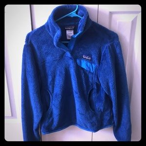 Women's small, royal blue Re-tool snap pull over